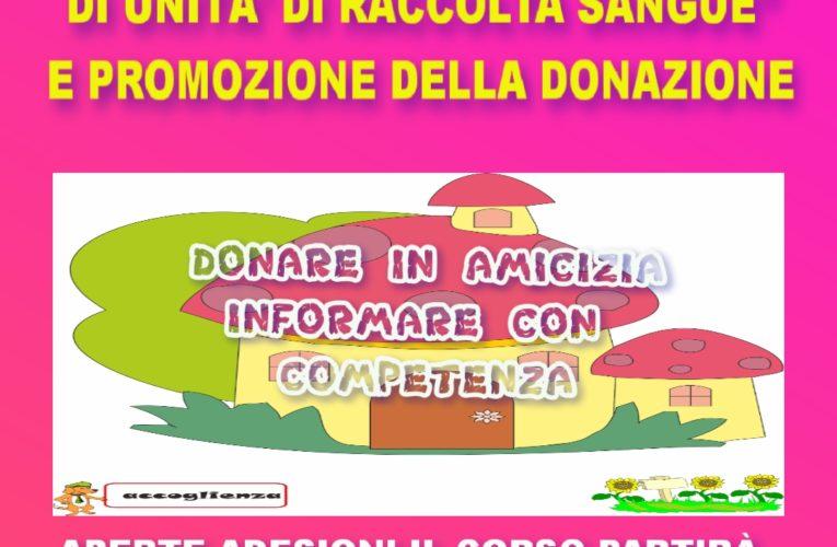 Corso di Formazione: Promozione della donazione e Accoglienza in UDR