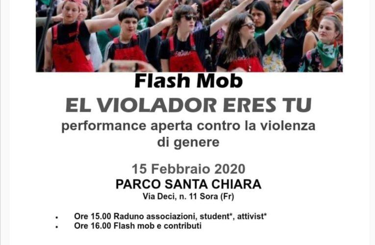 AVIS SORA: FLASH MOB 15 febbraio 2020 Città  di Sora invitiamo a partecipare all' importante iniziativa contro la violenza sulle donne