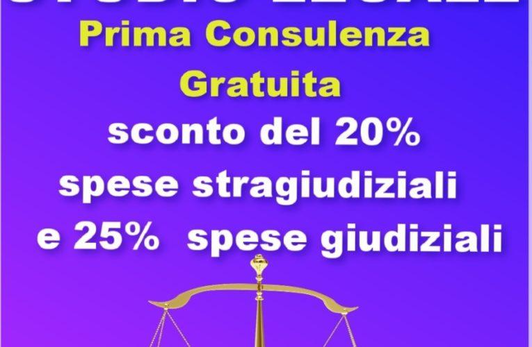 Convenzione STUDIO LEGALE  riservata a tutti i donatori AVIS SORA